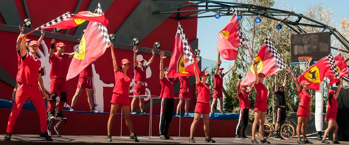 Ferrari Land - Espectaculos - Acrobatic Show