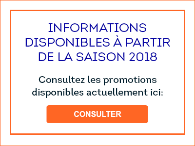 Informations disponibles à partir de 2018