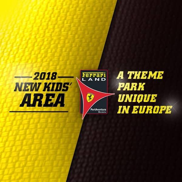 novedad new kids area FL Ferrari Land