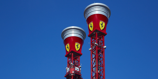 Башня с рикошетом Ferrari Land