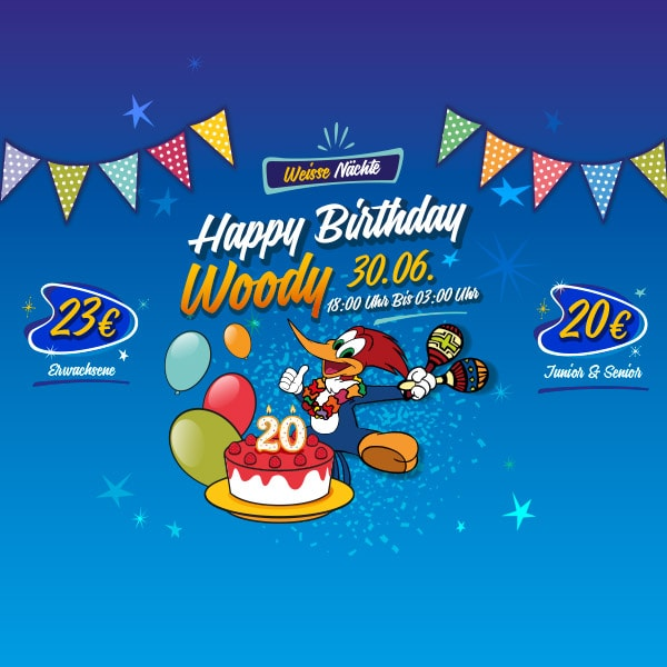 Woody Birthday PortAventura