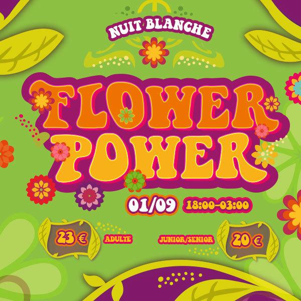 Entrada promo Noche Flower Power