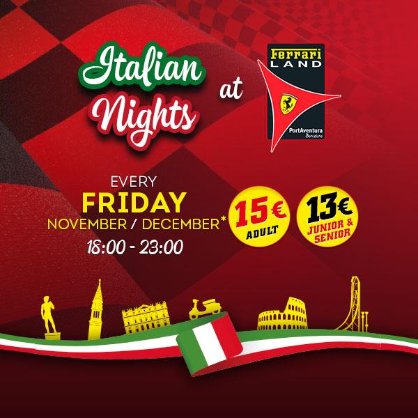 Noche italiana PortAventura