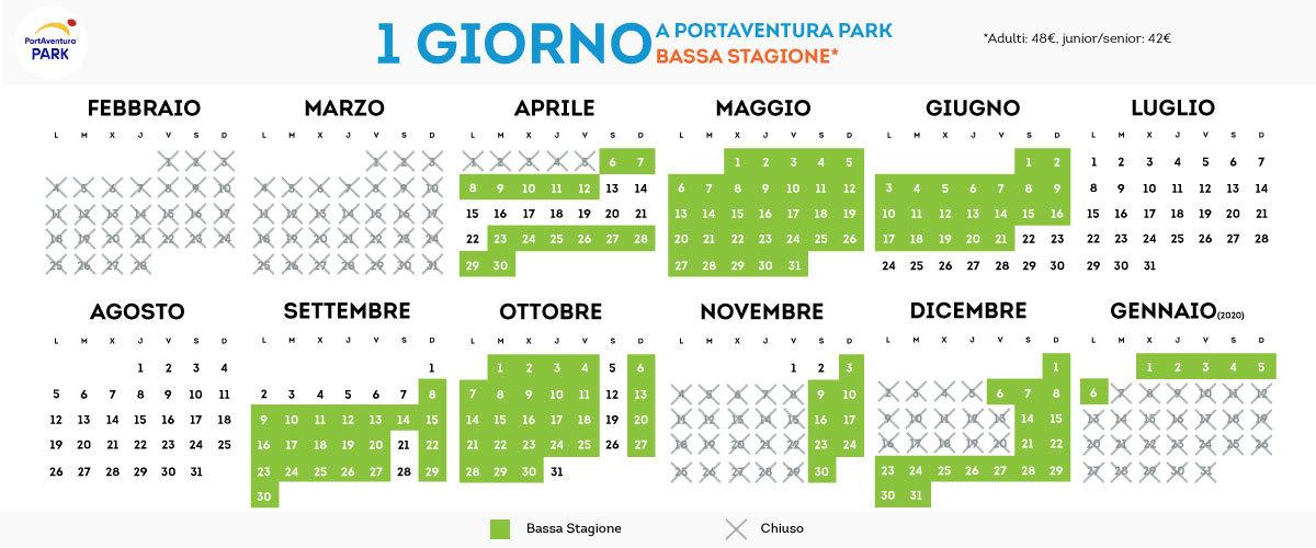 Calendario de PortAventura Parck