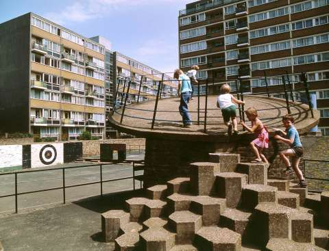 Churchill Gardens Estate Archive Image Credit John Donat Riba Library Photographs Collection