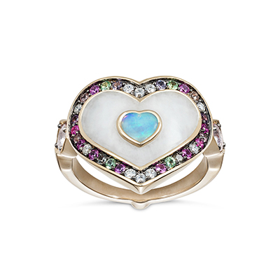 Noor Anahata Pinky Ring