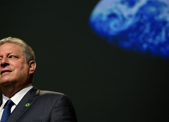 Al Gore speaks on solving the climate crisis