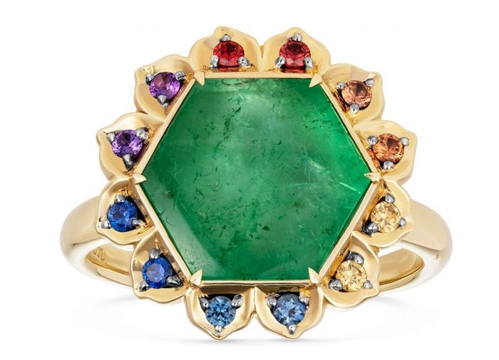 Editor's pick: Noor Fares Muzo Emerald Anahata Lotus Ring
