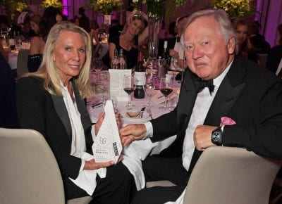 Carole Bamford wins at the Positive Luxury Awards for Lifetime Achievement