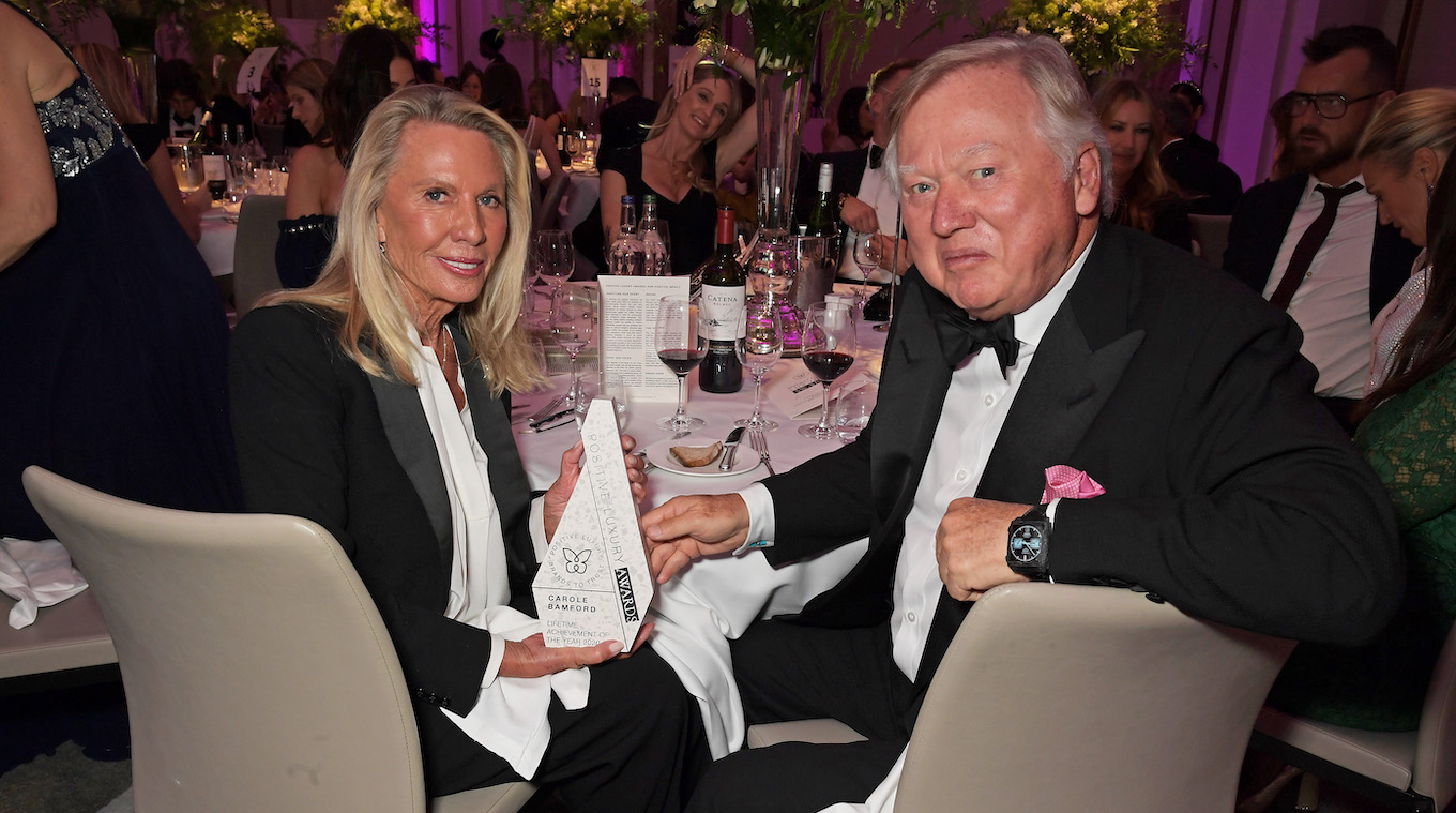 Positive Luxury Awards 2020 Lady and Lord Bamford