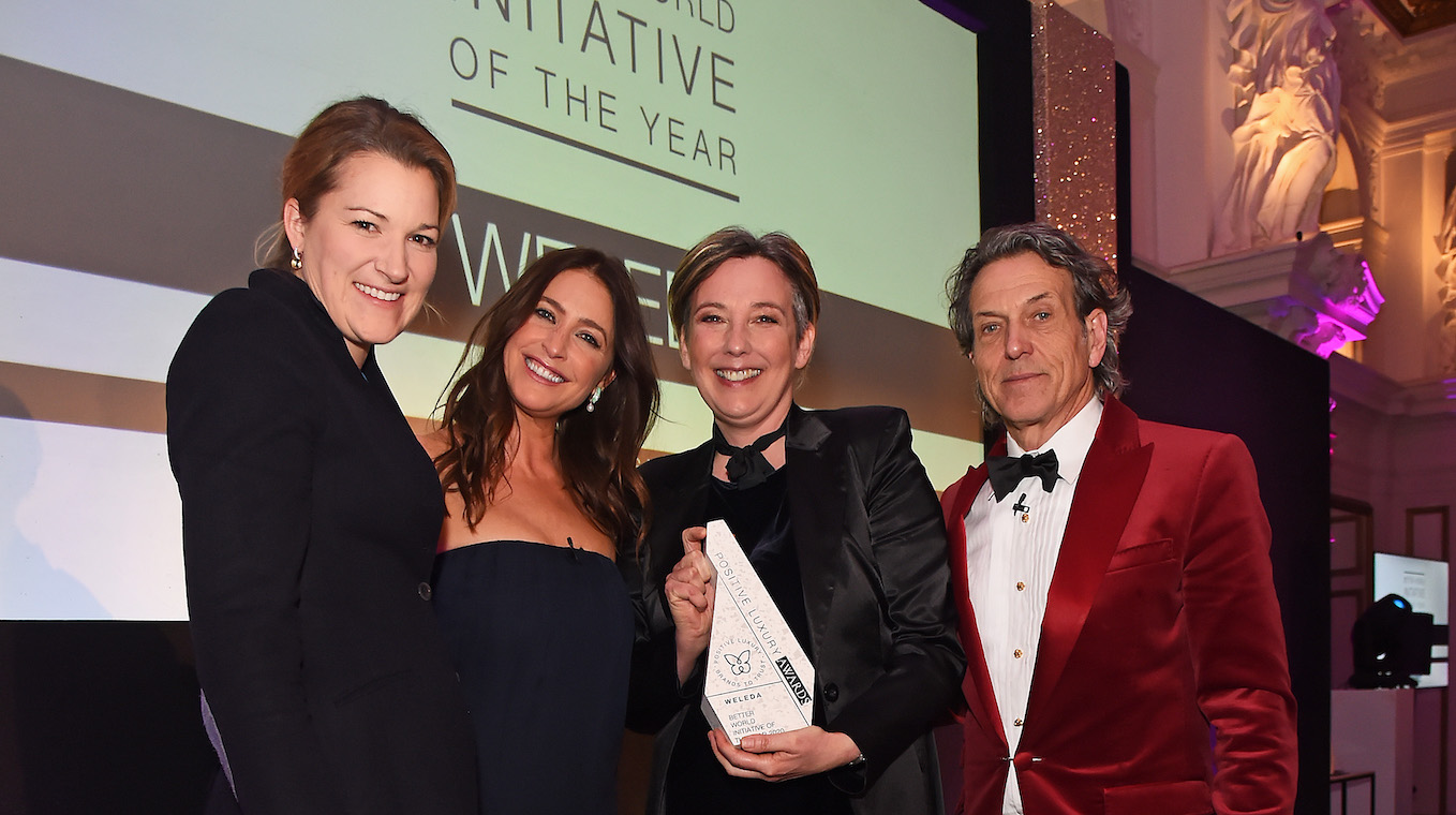 Weleda wins for Better World Initiative of the Year at the 2020 Positive Luxury Awards