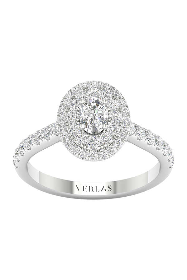 Signature Ellipse Double Halo Ring