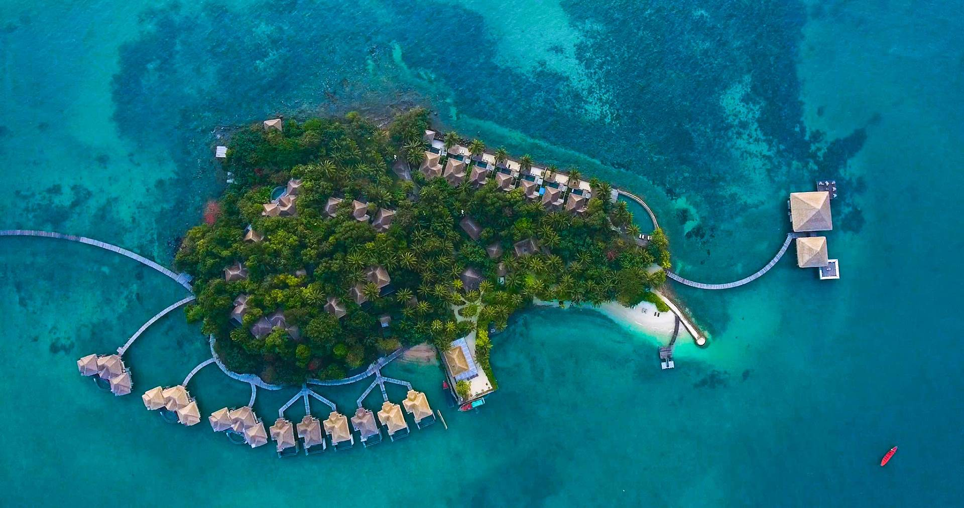 Song Saa Island from above