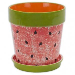 "Xl Flower Pot W/Tray: 1/cs: 7.75""dia.x7.5"" ,stockcode:BW-BU0614"