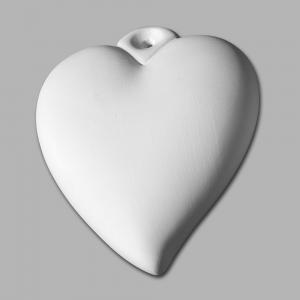 "Puffy Heart Ornament:6c/s:4.5""x3.75"" ,stockcode:BW-MB1267"