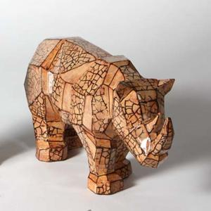 Faceted Rhino ,stockcode:BW-MB1430