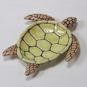 Sea Turtle Dish : 8.75 x 7.75 x 1.25