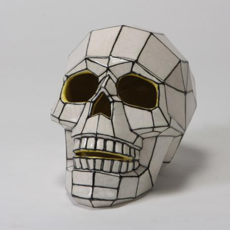 "Faceted Skull  7.75 x 5 x 5.75""H,stockcode:BW-MB1515"