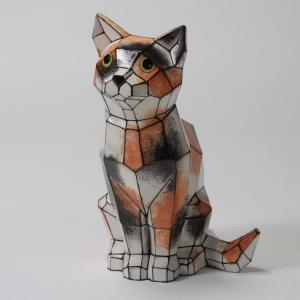 Faceted Cat by Mayco: 9.75 x 5