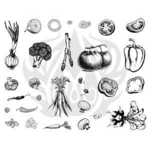 Vegetables Silkscreen ,stockcode:DSS-0122