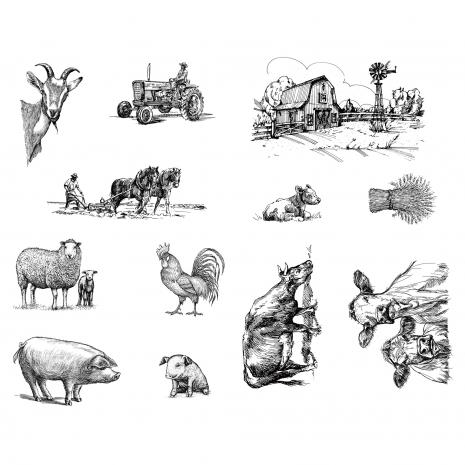 The Farm Silkscreen,stockcode:DSS-0128