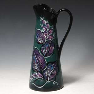 "Tall Pitcher Vase:3c/s:12.5""x6.75"" ,stockcode:BW-MB1334"