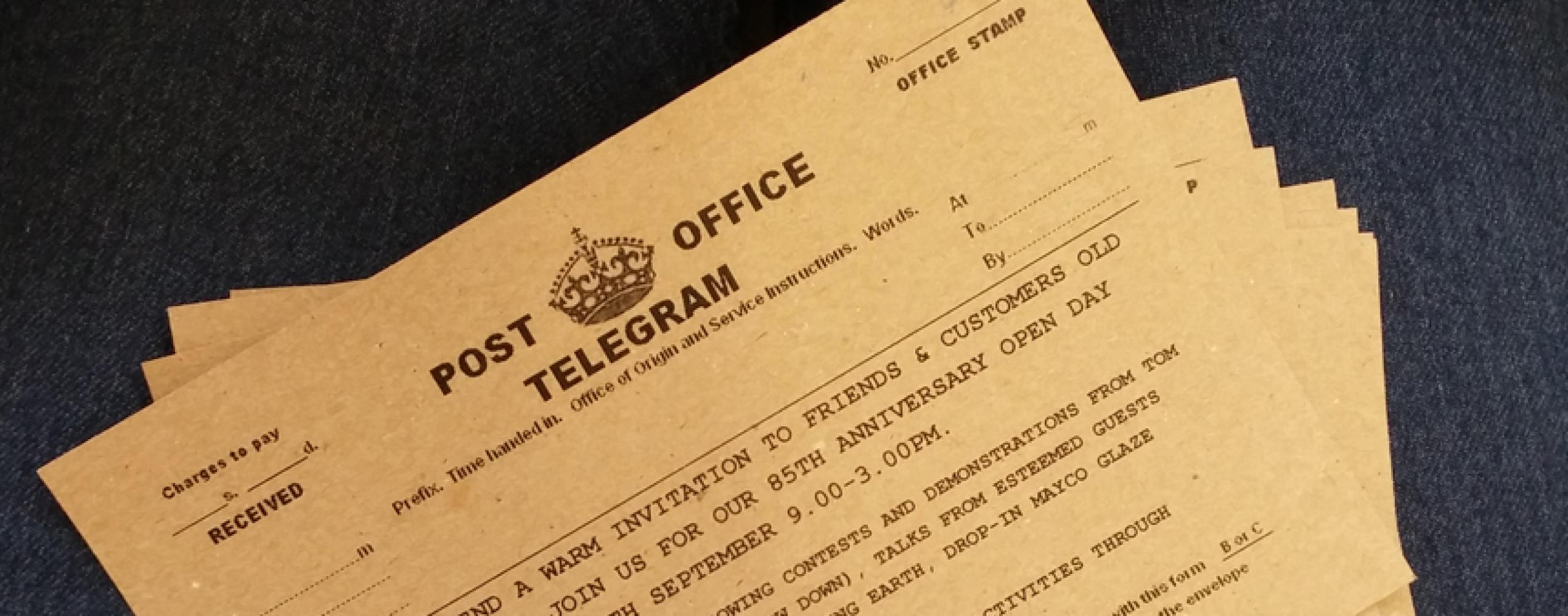 There's a telegram for you...