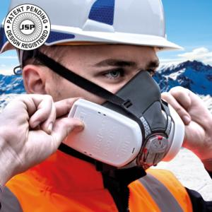 JSP Force 8 Half-mask with Press-To-Check P3 R D Filters for Ceramic Dust, stockcode:6898-04