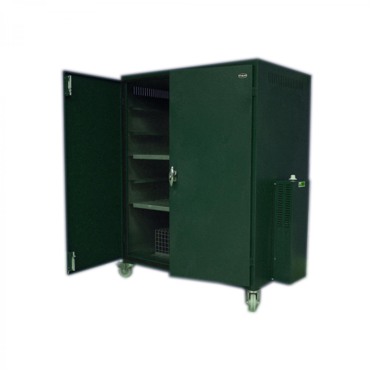 Drying Cabinet For Pottery Studio ~ Heated drying cabinet on castors h w d