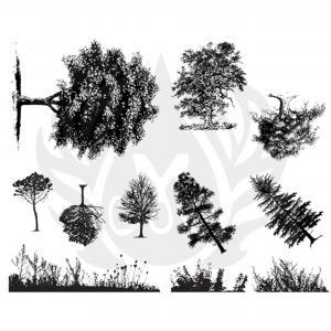 Botanical (Trees) Silkscreen, stockcode:DSS-0110