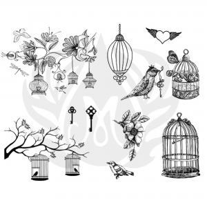 Birdcage Silkscreen, stockcode:DSS-0141