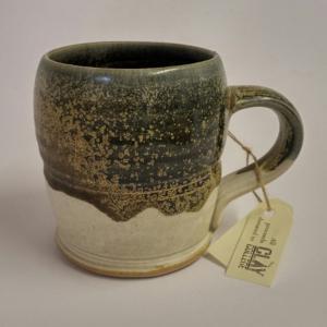 Hand-thrown Clay College Mug, stockcode:MUGCC