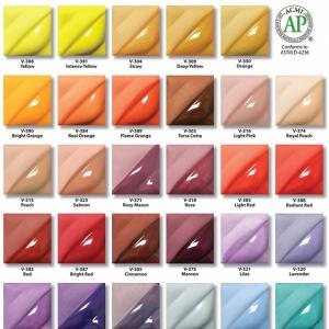 A full set of 2oz velvet underglaze colours 58 in total, stockcode:4V400
