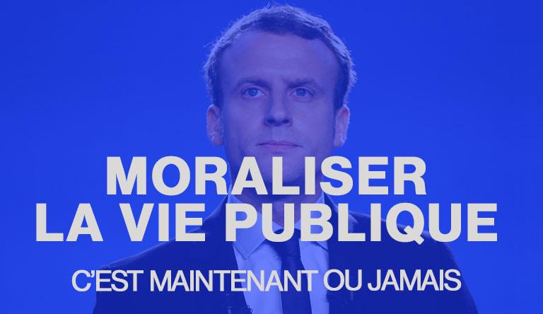 Moralisation de la vie publique : c'est maintenant ou jamais