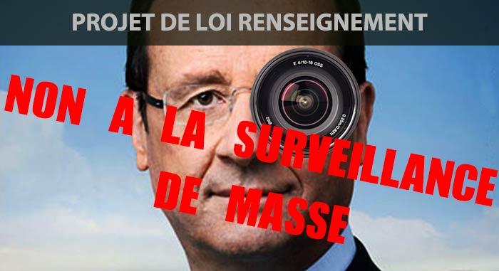NON à la surveillance de masse ! dans France photoshophollandeSITE