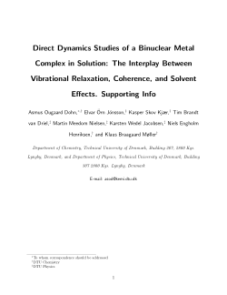 Direct Dynamics Studies of a Binuclear Metal Complex in Solution