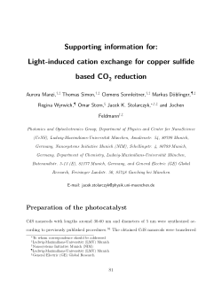 Light-Induced Cation Exchange for Copper Sulfide Based CO2
