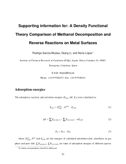 Density Functional Theory Comparison of Methanol