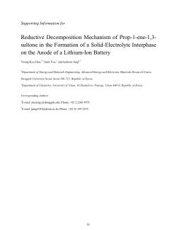 Reductive Decomposition Mechanism of Prop-1-ene-1,3-sultone