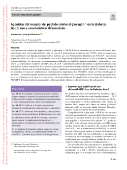péptido similar al glucagón-1 diabetes mellitus