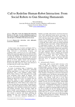 Call to Redefine Human-Robot Interaction: From Social Robots to Gun