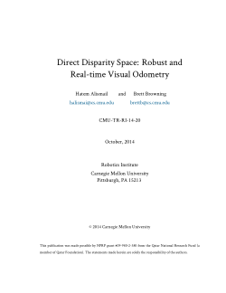 Direct Disparity Space: Robust and Real-time Visual Odometry