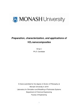 Preparation, characterization, and applications of VO2 nanocomposites