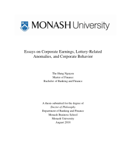 Essay On Science And Technology Essays On Corporate Earnings Lotteryrelated Anomalies And Corporate  Behavior Learning English Essay Writing also Essay On Business Management Essays On Corporate Earnings Lotteryrelated Anomalies And  Business Essay Writing