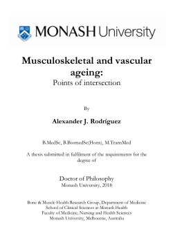 Musculoskeletal and vascular ageing: Points of intersection