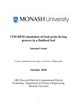 A CFD-DEM simulation of food grain drying process in a fluidised bed
