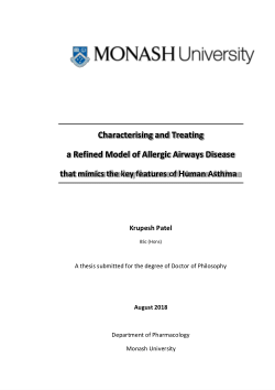 Characterising and Treating a Refined Model of Allergic Airways Disease that mimics the key features of Human Asthma