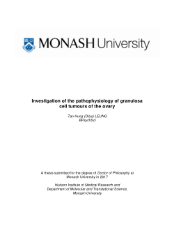 Investigation of the pathophysiology of granulosa cell tumours of the ovary