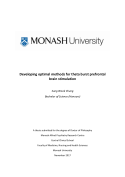 Developing optimal methods for theta burst prefrontal brain stimulation