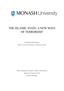 The Islamic State: A New Wave of Terrorism?